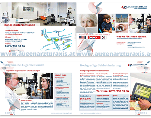 Broschüren Folder Flyer Patienteninformation Arztpraxis Ordination Arzt