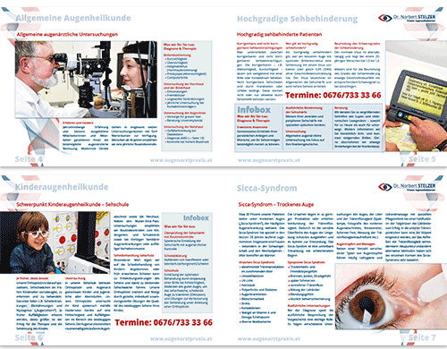 Broschüren Folder Flyer Patienteninformation Arztpraxis Ordination Arzt - Medmentor