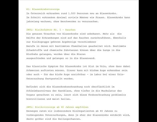 patientengerechte Texte Ordination Arztpraxis Arzt Medmentor